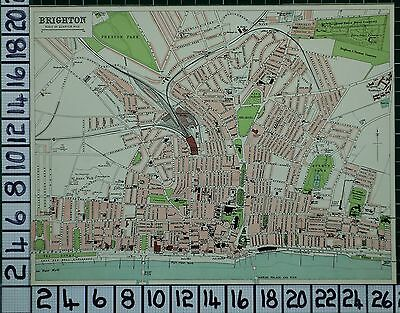 1903 City Plan Brighton ~ Streets Buildings Railway Pier Assembly Rooms Churches