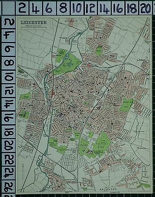 1903 City Plan Leicester ~ Streets Buildings Railway Parks Workhouse Hospital