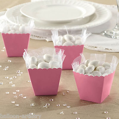 100 Classic LIGHT PINK Wedding Engagement Party Gift Scalloped Favour Boxes