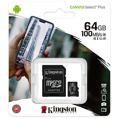 kQ Kingston microSDXC 64 GB Speicherkarte Class 10 UHS-I 80MB/s SDCS/64GB