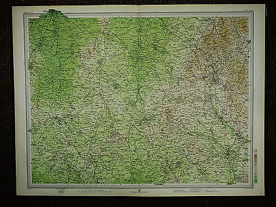 1903 Map ~ Crewe The Potteries Chester Newport Stafford & Villages