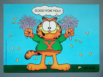 R&L Modern Postcard: Garfield Posted 1980's, Jim Davies, Good for You, Argus