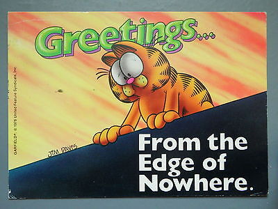 R&L Modern Postcard: Garfield Posted 1980's, Jim Davies, Greetings, Argus