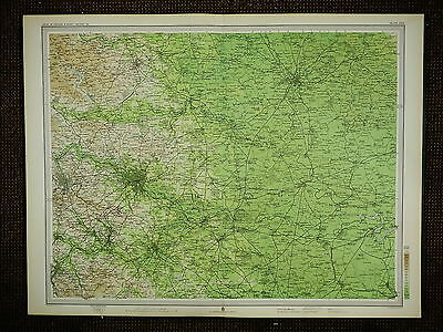 1903 Map ~ York Leeds Tadcaster Wetherby Selby Castleford Wakefield & Villages