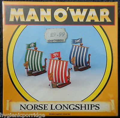 1993 Man O' War Norse Longships Squadron Citadel MOW Ship Viking Galley Boat MIB