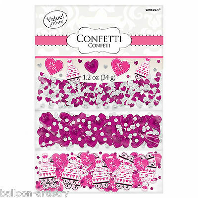 Pink Hearts Cakes Wedding Engagement Party Confetti Table Sprinkles Triple Pack
