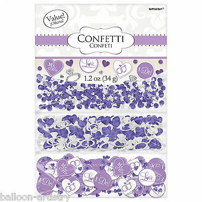 Lilac Diamond Ring Wedding Engagement Party Confetti Table Sprinkles Triple Pack