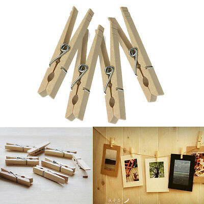 New Clothes Pins Traditional Wooden Clip Spring Clothespins