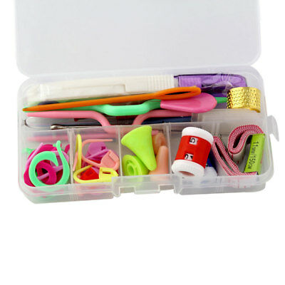 Crochet Hook Set Knitting Needles with Organizer Case Accessories Kit Set