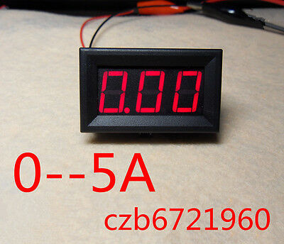 NEW Red LED Panel Meter Mini Digital Ammeter DC 0 To 5A