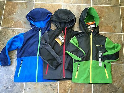 NWT FREE COUNTRY Boys Microtech Full Zip Fleece hooded Jacket Coat