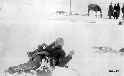 Photo.  1890.  Big Foot - Native American Sioux Indian Dying on Battlefield