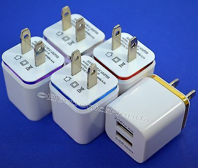 USB wall Fast Charger Adapter 1A 2A 5V  For Android / Galaxy / iPhone -B303