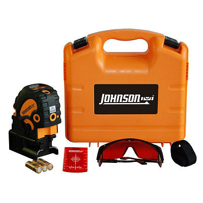 Johnson 40-6685 Self-Leveling Combination Cross-Line with 5 Beam Laser Dot