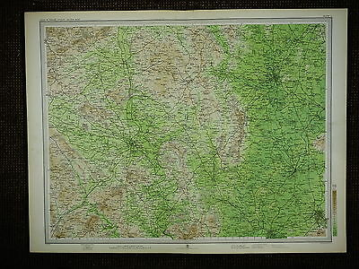 1903 Map ~ Hereford Malvern Worcester Cheltenham Leominster & Villages