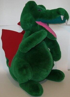 "HUGE Retired Legoland Collection Plush Dragon CLEAN 21"" x 16"" WE SHIP WORLDWIDE"
