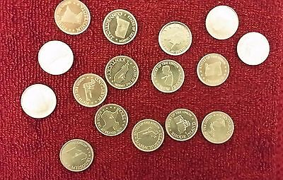 Vintage Shell State of the Union Game Coin 1969 (Lot of 16)