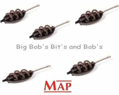 NEW 18 x MAP Large Flat ELASTICATED Method Feeders 15g + Fast Form MOULD Carp