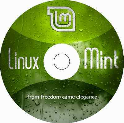 "Latest New Release Linux Mint 18.3 Mate ""Sylvia"" 32 or 64 Bit BOOTABLE DVD LTS"