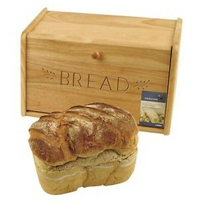 Traditional Wooden Bread Bin With Drop Down Front