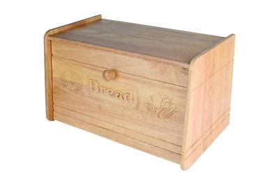 Apollo Solid Wood Carved Drop Front Bread Bin