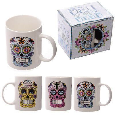Lauren Billingham Day Of The Dead Bone China Mug In Gift Box