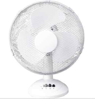 """12"""" Oscillating Desk Fan 12 inch Table Portable Cooling Electric Fan Home Office"""