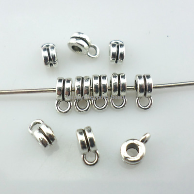 120/360pcs Tibetan Silver Jewelry Connectors Bails Charms Crafts Beads 3x4x6mm