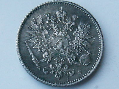 1916-S Finland 25 Pennia Foreign World Coin .750 Silver ( Xf, My Opinion )