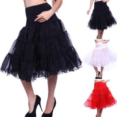 "25/27"" Retro UNDERSKIRT 50s SWING PETTICOAT ROCKABILLY Tutu Fancy Skirt SZ 8-24"