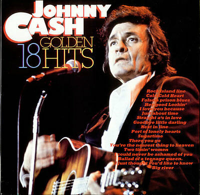 "12"" LP Johnny Cash 18 Golden Hits (Rock Island Line, Just About Time)"