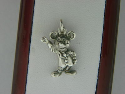 Vintage Sterling Silver Disney Mickey Mouse 3-D Charm