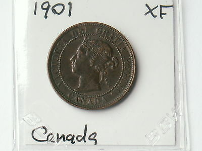 1901 Canada Large Cent Foreign World Coin ( Xf , My Opinion )