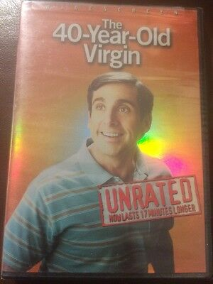 The 40-Year-Old Virgin (DVD, 2005, Widescreen; Unrated) Brand New