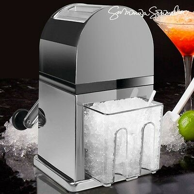 Ice Crusher For Party Cocktails --- Stainless Steel Powerful Grinder --- Chrome