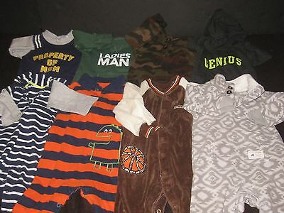 BABY Boy 12 Month Carters Rompers One Piece Outfits Fall Winter Clothes Lot SS48