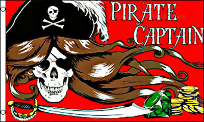 Pirate Captains Skull Cross Swords 3x5 Polyester Flag