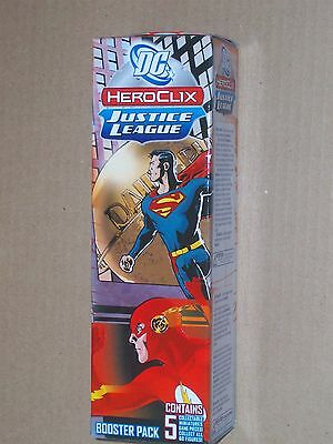 Justice League Heroclix 5 figure booster pack New Sealed