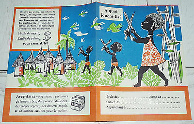Protege-Cahier Margarine Astra 1958 Afrique Occidentale Francaise Aof Senegal