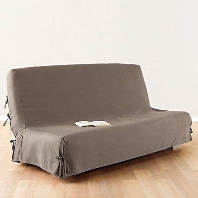 Sofa Bed / Futon Cover 100 % Cotton Colour Taupe Home Household Supplies New