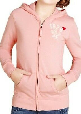 Girls Pale Pink Zip Through Hooded Top/jacket From Marks And Spencer Bnwt