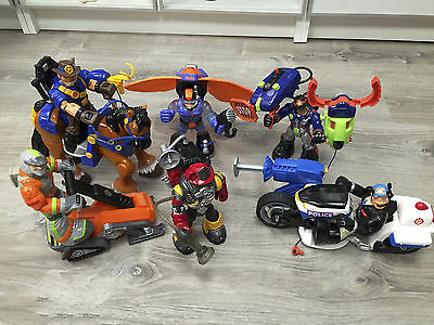 Fisher-Price RESCUE HEROS lot of 6 sets!  2002-2006 RETIRED