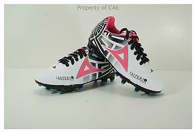 Pirma KIDS Soccer Cleats-Style 550-White//Black//Pink-Imperio Light