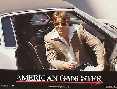 AMERICAN GANGSTER - 11x14 US Lobby Cards Set - Russell Crowe, Denzel Washington