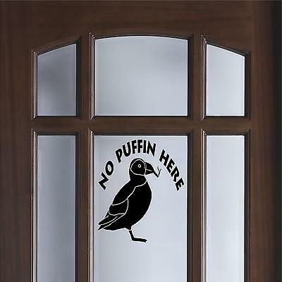 No puffin decal