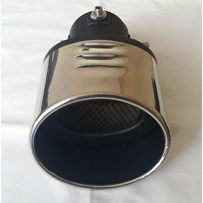 EXHAUST TIP STRAIGHT PIP CHROME UNIVERSAL WITH BLACK MESH 58mm