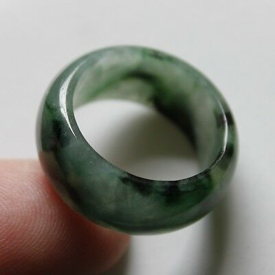 Size 8 1/4 ** CERTIFIED Natural (A) Beautiful Green Jadeite JADE RING #R107