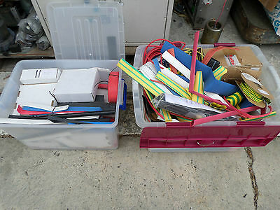 HEAT SHRINK - HUGE QUANTITY -- ELECTRICIANS LOOK!!!! - 2 x Large Tubs All sizes
