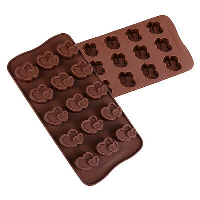 Double Heart Silicone Lollipop Chocolate Mold Candy Wedding Decoration Bakeware