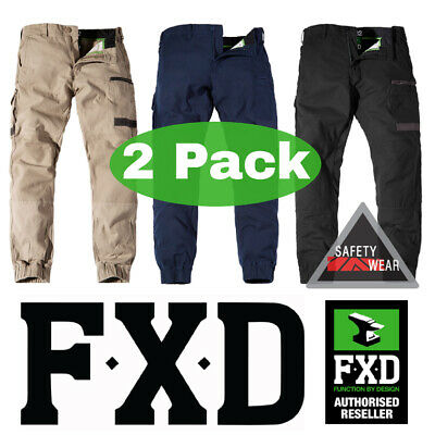 FXD WP-4 WP4 Workwear Pants Trousers Regular Fit 360 Stretch Khaki Navy Black